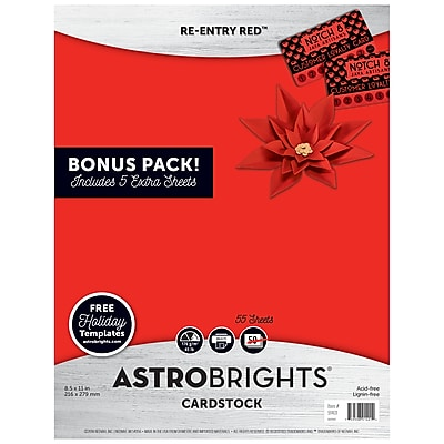 Astrobrights Colored Cardstock Holiday Edition, 8.5