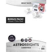 "Astrobrights Colored Cardstock Holiday Edition, 8.5"" x 11"", 65 lb/176 gsm, Bright White, 80 Sheets (91399)"