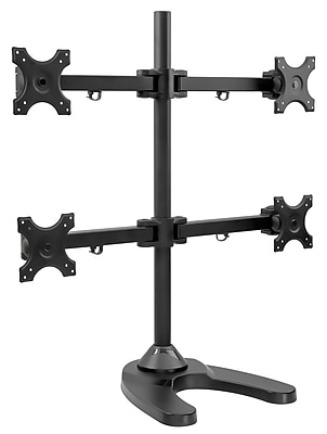Mount-It! Height Adjustable Quad Monitor Desk Stand for 13