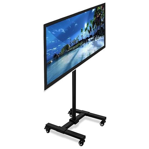 Mount It Tv Floor Stand Portable Tv Pedestal Display Staples
