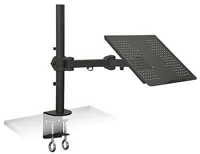 Mount-It! Laptop Notebook Desk Mount Stand with Full Motion Height Adjustable Holder, Black (MI-3352LT)