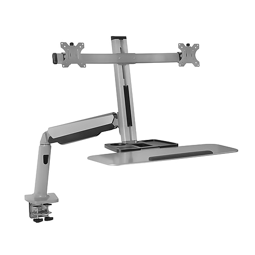 mount it stand up workstation with dual monitor mount staples. Black Bedroom Furniture Sets. Home Design Ideas