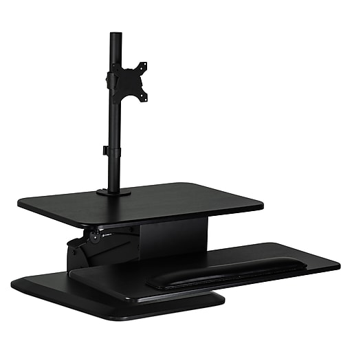 Mount It Sit Stand Desk Converter Standing Workstation With Single Monitor Rollover Image To Zoom In S Staples 3p Com S7 Is