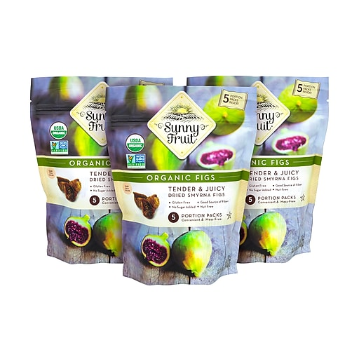 Sunny Fruit Organic Dried Smyrna Figs, 8.8 oz., 3/Pack (220-00806)
