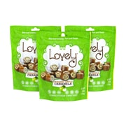 LOVELY Caramel Apple Caramel Candy, 6 oz, 3 Pack (256-00004)