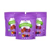 LOVELY Organic Lollipops Assorted, 7 oz, 3 Pack (256-00012)