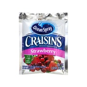 OCEAN SPRAY Craisins Strawberry Flavored Dried Cranberries, 1.16 oz, 200 Count (307-00076)