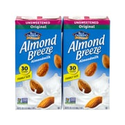BLUE DIAMOND Almond Breeze Unsweetened Almondmilk, 64 fl oz, 2 Pack (307-00082)