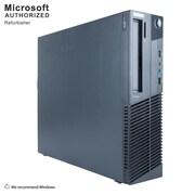 Lenovo ThinkCentre M81 Desktop Computer, Intel Core i3-2100, 12GB DDR3, 120GB SSD+500GB HDD, Small form factor, Refurbished