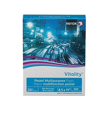 Xerox® Vitality® Pastel Multipurpose Paper, 20 lb., Ivory, 8.5