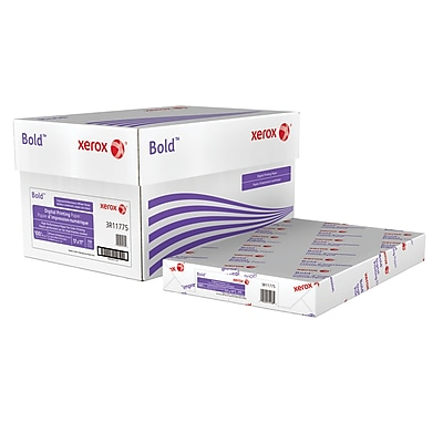 "Xerox® Bold Digital™ Printing Paper, 100 lb. Cover, 100 Bright, 17""x11"", Carton (3R11775)"