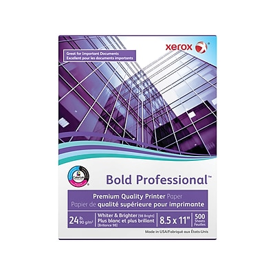 Xerox® Bold Professional™ Quality Paper, 24 lb., 98 Bright, 8.5