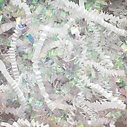 Spring-Fill Crinkle Cut Shred, Iridescent/White, 10lb, (DC10WH)