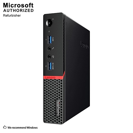 Lenovo ThinkCentre M910Q Small Form Factor Refurbished Desktop Computer,  Intel Core i7-7700T, 8GB Memory, 240GB SSD
