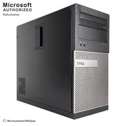 Dell OptiPlex 390 Desktop Computer, Intel Core i3-2120, 8GB DDR3, 120GB SSD+500GB HDD, Tower, Refurbished (EN/ESP)