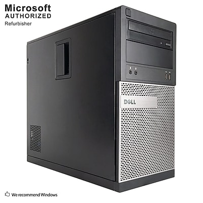 Dell OptiPlex 390 Desktop Computer, Intel Core i3-2120, 8GB DDR3, 120GB SSD+500GB HDD, Tower, Refurbished (EN/ESP)
