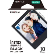 Fuji Instax Square Film w/Black Border for SQ6 Film, 10/Pack