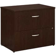 Bush Business Furniture Easy Office Lateral File Cabinet, Mocha Cherry, Installed (EO101MRSUFA)