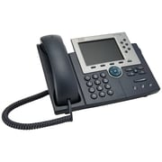 Cisco® CP-7965G-RF 6-Line Corded Unified IP Phone, Gray/Silver