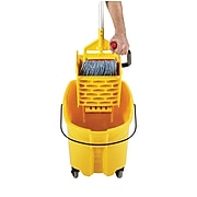 Rubbermaid WaveBrake® 2.0 Janitorial Side-Press Bucket and Wringer 35 Quart , Yellow (FG758088YEL)
