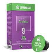 Gourmesso Espresso Lungo Arabica Compatible Coffee Capsules for Nespresso Machines, 5 Boxes (40704)