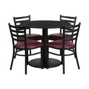 "Flash Furniture Table Set, 36""D x 36""W, Black (RSRB1005-GG)"