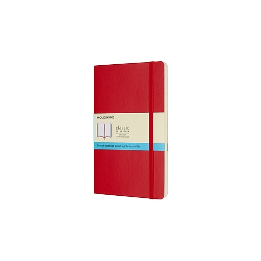 Moleskine Large Soft Cover, Dotted, Scarlet Red (854665XX)