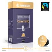 Gourmesso Caramel 50 Coffee Capsules for Nespresso Machines - Soffio Caramello Flavored Espresso Pods
