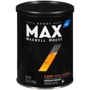 Maxwell House Max Boost 1.50x More Caffeine Medium Roast Ground Coffee,  13.5 oz. Canister (GEN07551)