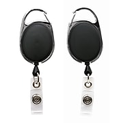 Sicurix Quick Clip ID Badge Reels Oval, Black (BAU68754)