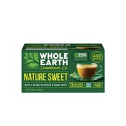 Whole Earth Nature Sweet Stevia and Monk Fruit Blend Sweetener, 2 Gram Packets, 400 Count (NUT00145)