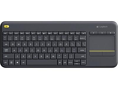 Logitech Touch K400 Plus Wireless Keyboard, Black (920-007119)