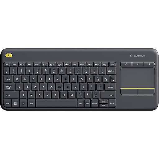 ee31c4f06fc Logitech K400 Plus Wireless Touch Keyboard with Built-in Trackpad, Black  (920-007119)   Staples