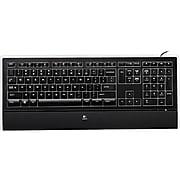 Logitech Illuminated K740 Wired Keyboard, Black (920-000914)