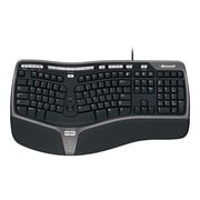Microsoft NaturalErgonomic 4000 Wired Keyboard, Black (B2M-00012)