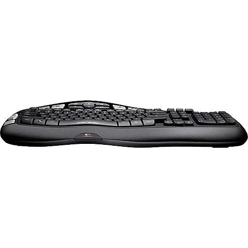 ee75b2c681f Logitech K350 Curved Full-Size Wireless Keyboard, Black (920-001996 ...