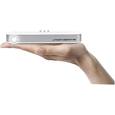 Cremotech Laser Beam Pro C200 Focus Free Wireless HD Projector, White (C200)