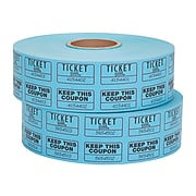 Staples Double Ticket Roll, 2000/Roll, 2 Rolls/Pack (19164)