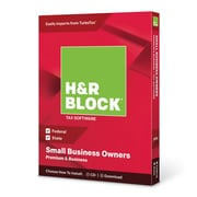 H&R Block 2018 Premium & Business Tax Software, 1 User, Win and Mac Download/Disc (1116600-18)