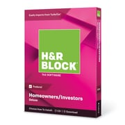 H&R Block 2018 Deluxe Tax Software, 1 User, Win and Mac Download/Disc (1433600-18)