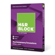 H&R Block 2018 Deluxe & State Tax Software, 1 User, Win and Mac Download/Disc (1336600-18)