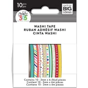 Me & My Big Ideas Happy Planner Highlighter Mini Washi Tape, 3mm x 6.56 yard, Brights, 10/Pack (WTSS-03)