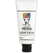 Ranger Dina Wakley Media Adhesive Putty, Gesso Clear, 2 oz. Tube, (MDM46417)