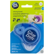 "Glue Dots Permanent Tape Dot Dispenser, 200 Clear .375"" Dots (11345)"