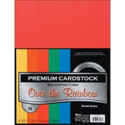 "Darice Cardstock Paper, 65 lbs, 8.5"" x 11"", Over The Rainbow Core'dinations Value Pack, 50/Pack (G x 220011)"