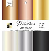 "American Crafts DCWV Cardstock Paper, 6"" x, 6"", Metallics Foil Solid, 6 Colors Single-Sided Stack, 20/Pack (PS006101)"