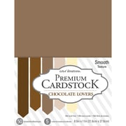 "American Crafts Cardstock Paper, 65 lbs, 8.5"" x 11"", Chocolate Lovers Core'dinations Value Pack Smooth, 50/Pack (377697)"
