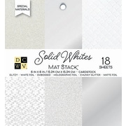 "American Crafts DCWV Cardstock Paper, 6"" x, 6"", Solid Whites Glitter & Foil, 6 Designs Single-Sided, 18/Pack (PS006143)"
