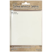 """Ranger by Tim Holtz Cardstock Paper, 110 lbs, 5.5"""" x 4.25"""", Distress White Watercolor, 20/Pack (TDA39549)"""