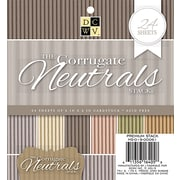 "American Crafts DCWV Cardstock Paper, 6"" x, 6"", Corrugated Neutrals, 6 Colors/4 Each Single-Sided, 24/Pack (MS019061)"